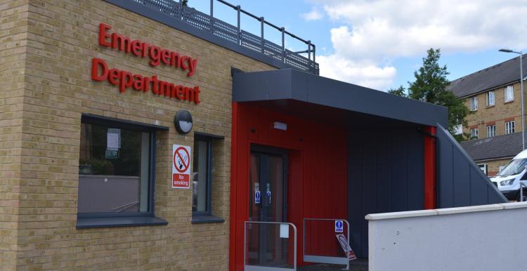Kingston A&E entrance