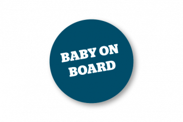 Baby on Board! sign