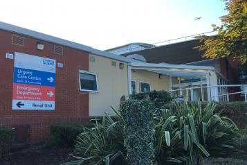 Entrance to Emergency Department at West Middlesex Hospital