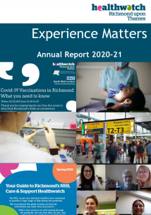 Experience matters Annual Report 2019-20 cover page.