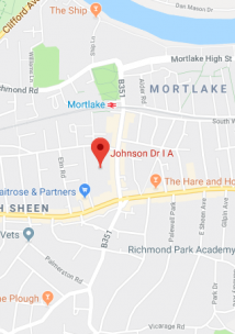 Pin showing Dr Johnson+Partners on map